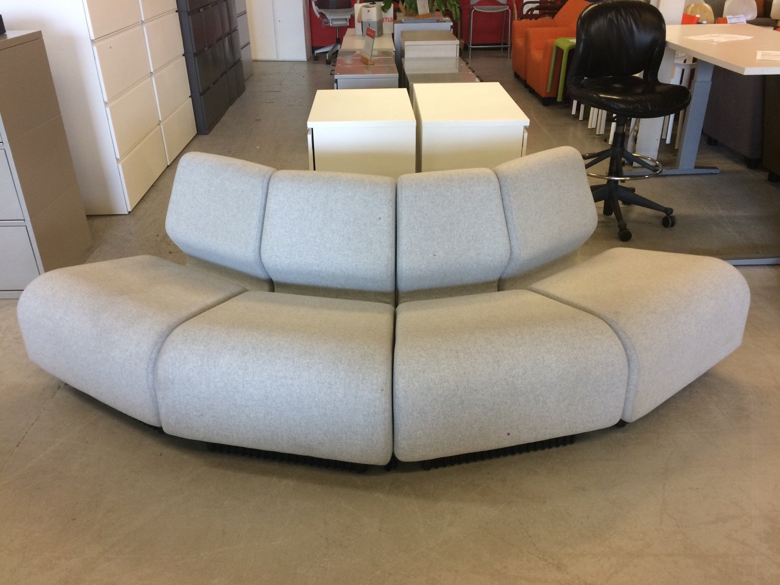 blog » office outlet  an outlet source for herman miller furniture - modules link together in any combination with loop connectors mix andmatch colors and wedges with straights most the upholstery is  wool